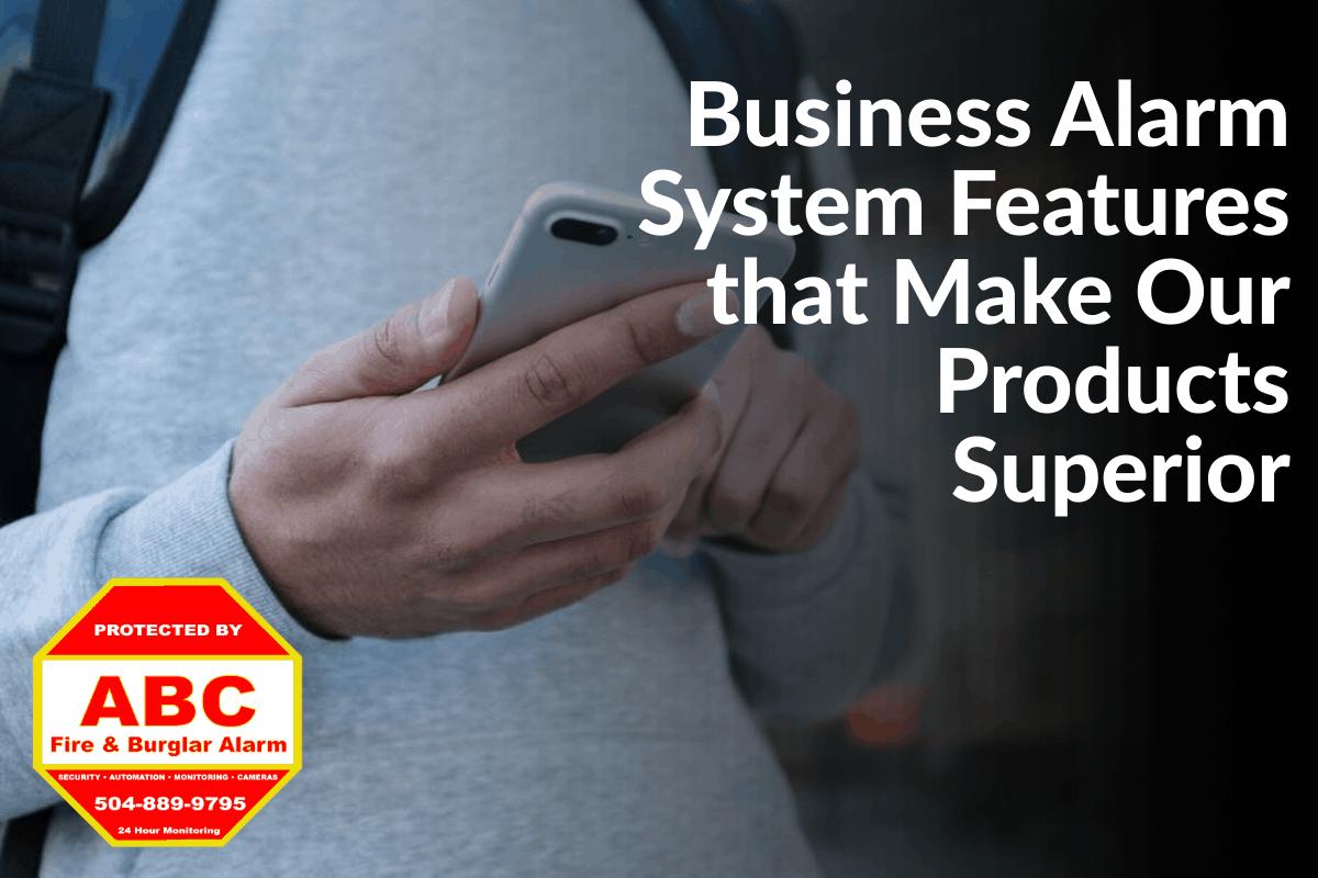 business alarm system