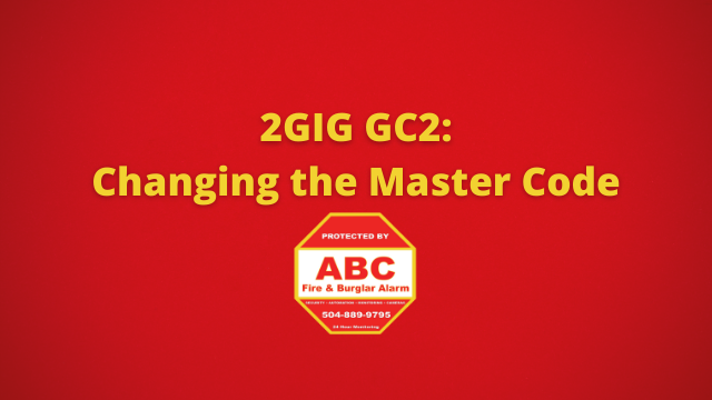2GIG GC2 Changing the Master Code