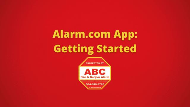 Alarm.com App Getting Started