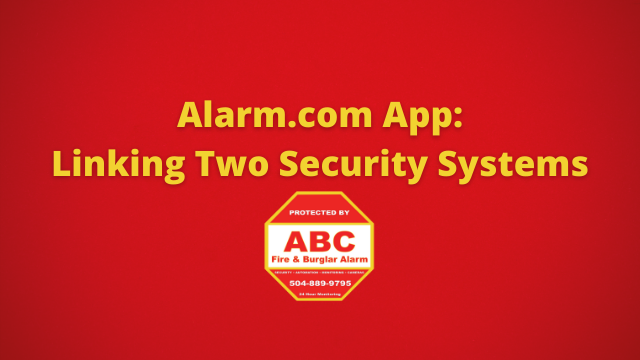 Alarm.com App Linking Two Security Systems