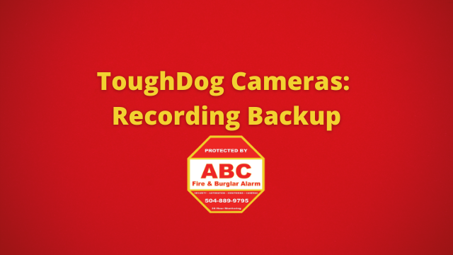 ToughDog Cameras Recording Backup
